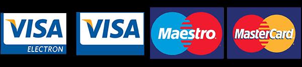 I accept: Visa Electron, Visa, Maestro and Master Card